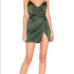 Majorelle green wrap dress SZ M NWT